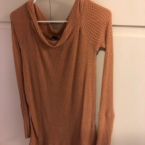 Free People Waffle knit off the shoulder Tunic